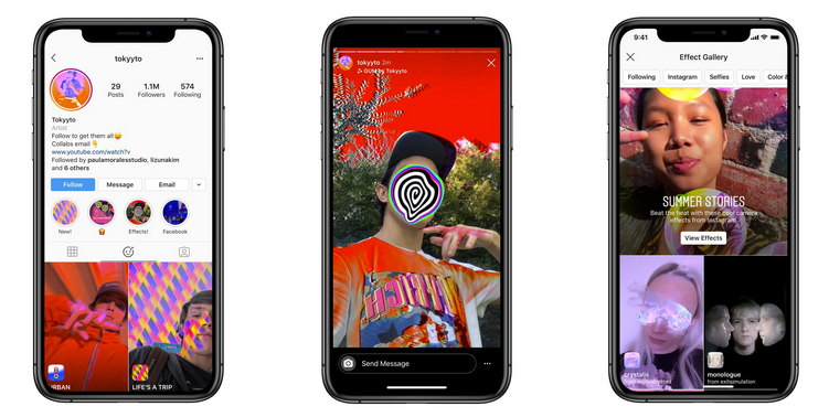 Instagram Stories lets you use your own AR effects and filters    Newsfeed.org