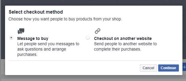 No Website? use the Shop Section on your Facebook Page