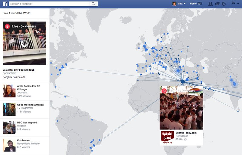 Facebooks Interactive Map Makes It Easy To Find Live Streams From