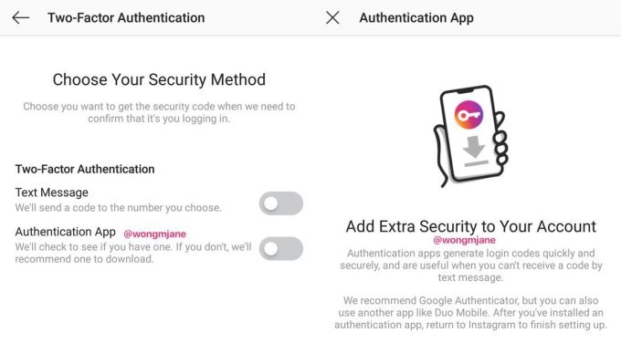 Instagram is working on a better two-factor authentication