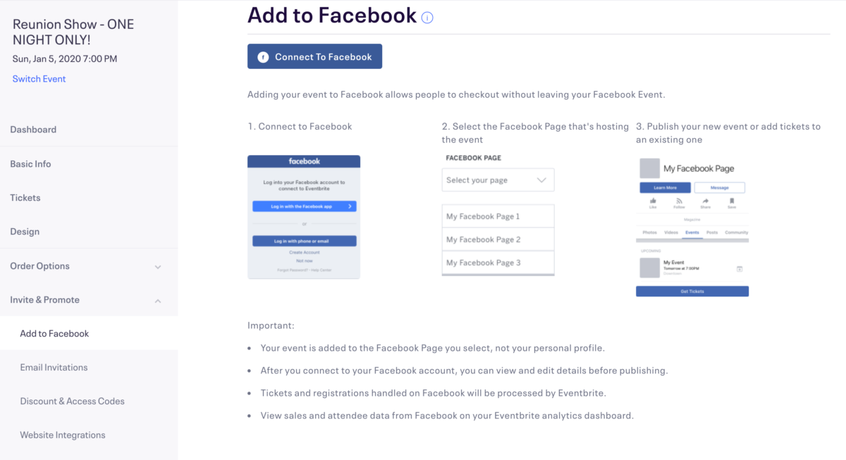 How to sell tickets for events through Facebook Pages | Newsfeed org