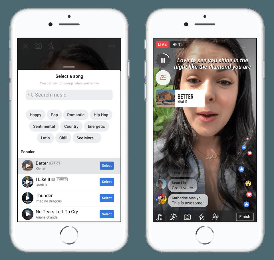 Facebook wprowadza muzykę w Stories, News Feedzie i na profilach
